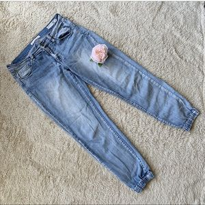 Joggers Cropped Ankle Light Faded